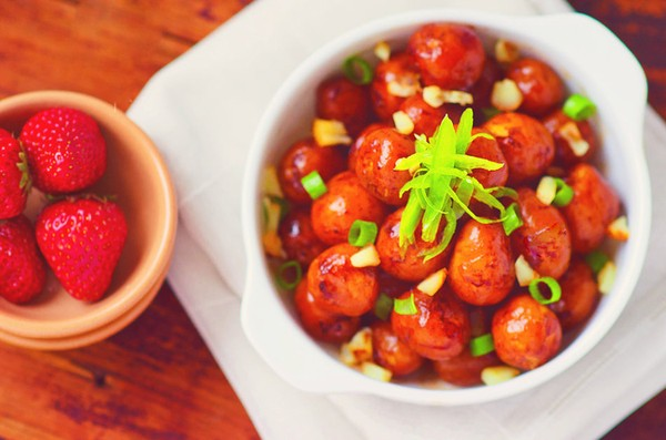 Khoai tây om mặn đẹp mắt ngon miệng