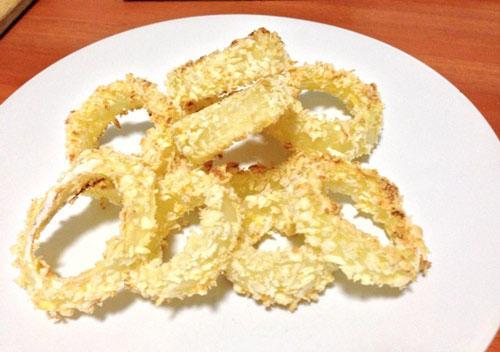 Hành tây tẩm bột nướng giòn
